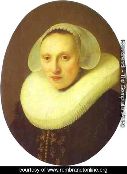 Rembrandt - Cornelia Pronck, Wife of Albert Cuyper