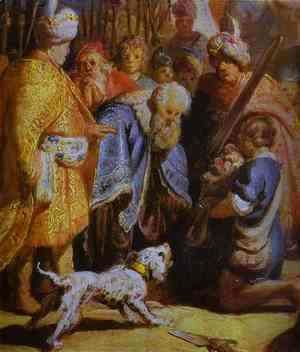 Rembrandt - David Presenting the Head of Goliath to King Saul