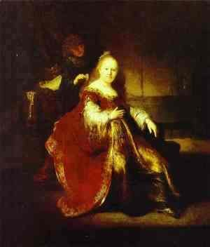 Rembrandt - Esther Preparing to Intercede with Assuerus