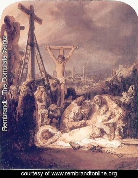 Rembrandt - La Deploration Du Christ,londres 1635
