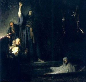 Rembrandt - La Resurrection De Lazare,los Angeles 1631