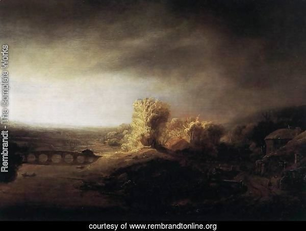 Landscape with a Long Arched Bridge