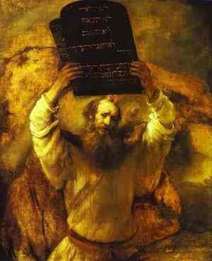 Rembrandt - Moses Smashing the Tables of the Law