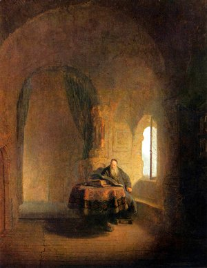 Rembrandt - Philosopher Reading