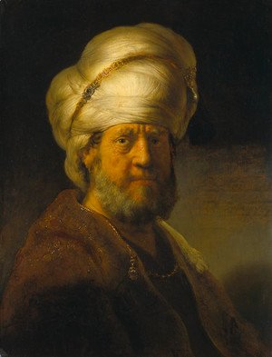 Rembrandt - Portrait of a Man in an Oriental Costume