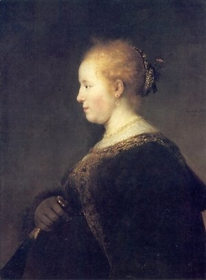 Rembrandt - Portrait of a Young Woman with the Fan