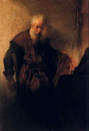 Rembrandt - Saint Paul A Sa Table De Travail,nuremberg 1629