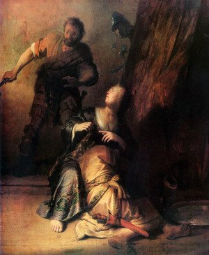 Rembrandt - Samson Betrayed by Delilah
