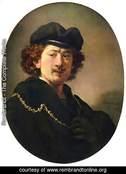 Rembrandt - Self-Portrait with a Gold Chain