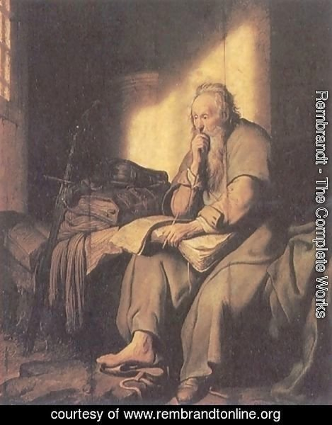 Rembrandt - St. Paul in Prison 2