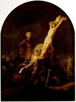 Rembrandt - The raising of the cross [c. 1633]