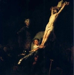 Rembrandt - The raising of the cross,munich 1633