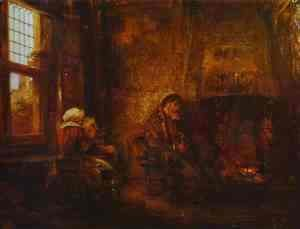 Rembrandt - Tobit and Anna