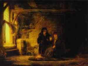 Rembrandt - Tobit's Wife with a Goat