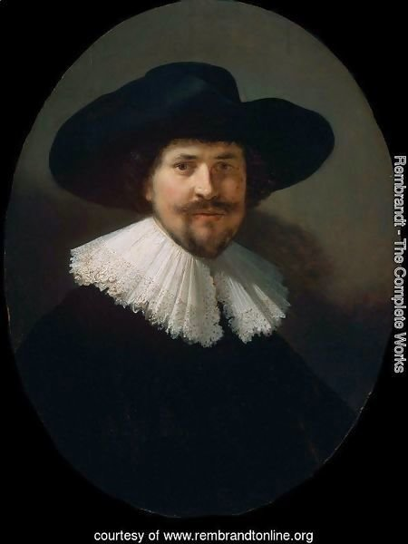 Portrait of a Man in a Black Hat