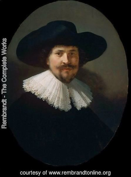 Rembrandt - Portrait of a Man in a Black Hat