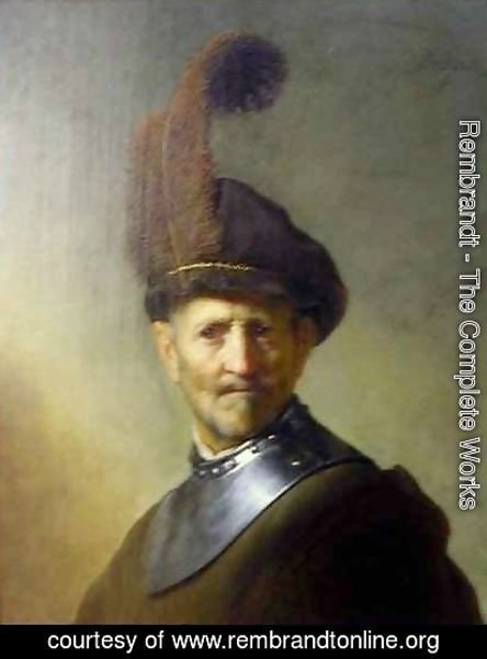 Rembrandt - An Old Man in Military Costume