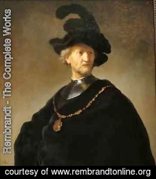 Rembrandt - Old Man with a Gold Chain