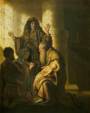 Rembrandt - Simeon and Anna Recognize the Lord in Jesus