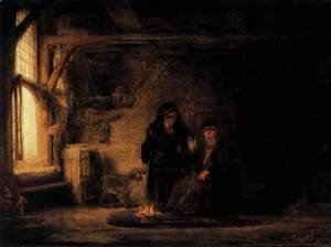 Rembrandt - Tobit's Wife with the Goat