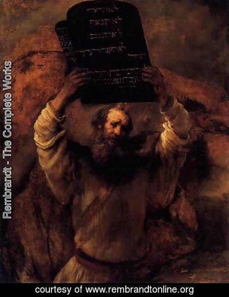 Rembrandt - Moses Smashing the Tablets of the Law