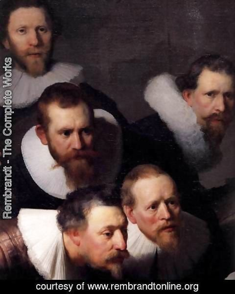 Rembrandt - The Anatomy Lecture of Dr. Nicolaes Tulp (detail)