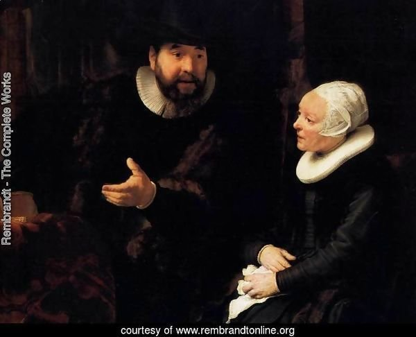 The Mennonite Minister Cornelis Claesz. Anslo in Conversation with his Wife, Aal