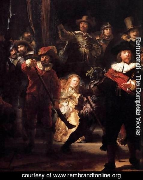 Rembrandt - The Nightwatch (detail) 3