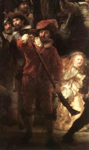 Rembrandt - The Nightwatch (detail) 4