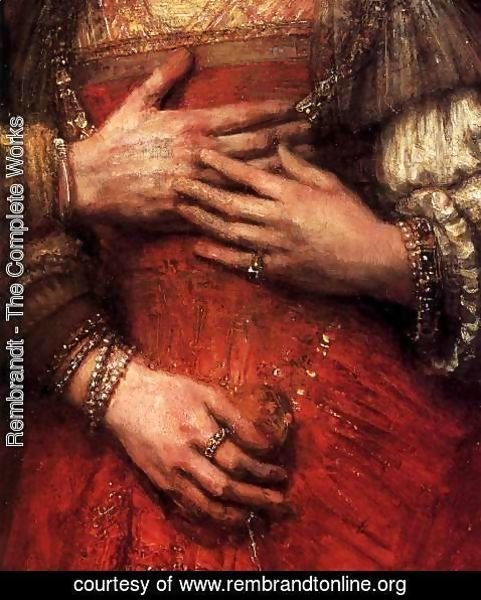 Rembrandt - The Jewish Bride (detail)