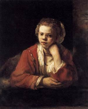 Rembrandt - Girl at a Window