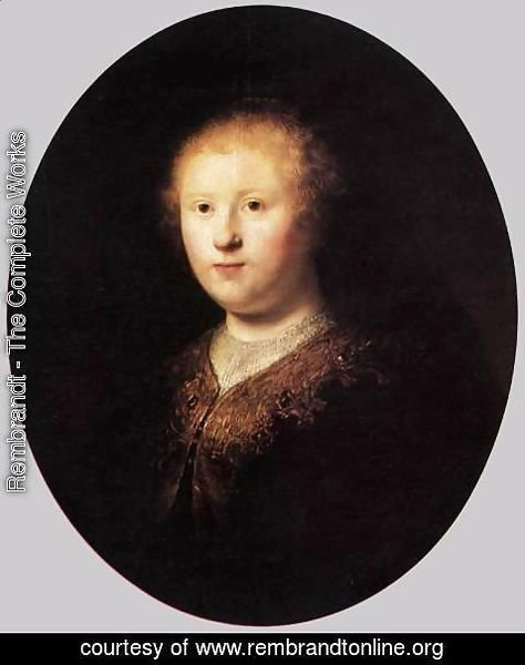 Rembrandt - Portrait of a Young Woman