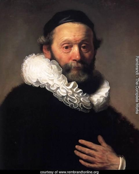 Portrait of Johannes Wtenbogaert (detail)
