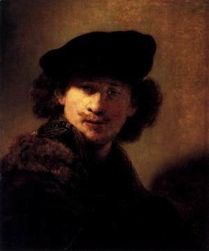 Rembrandt - Self-Portrait with Velvet Beret and Furred Mantel