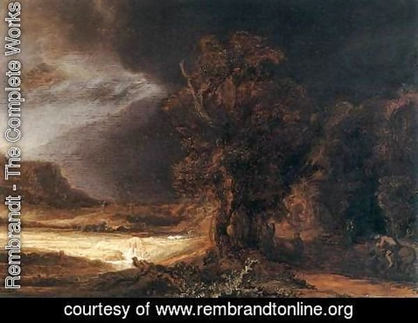 Rembrandt - Landscape with the Good Samaritan