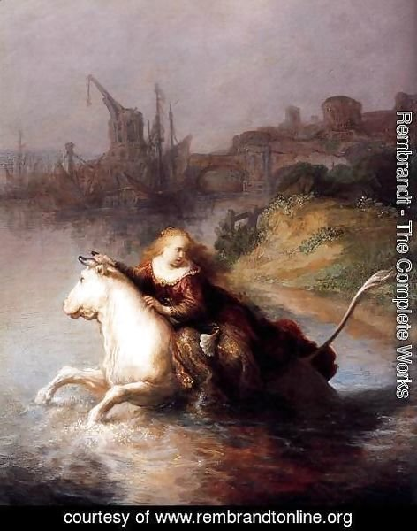 Rembrandt - The Abduction of Europa (detail)