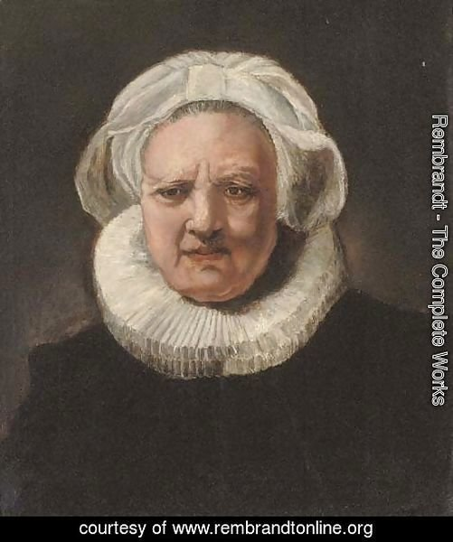 Portrait of an old woman, aged 83