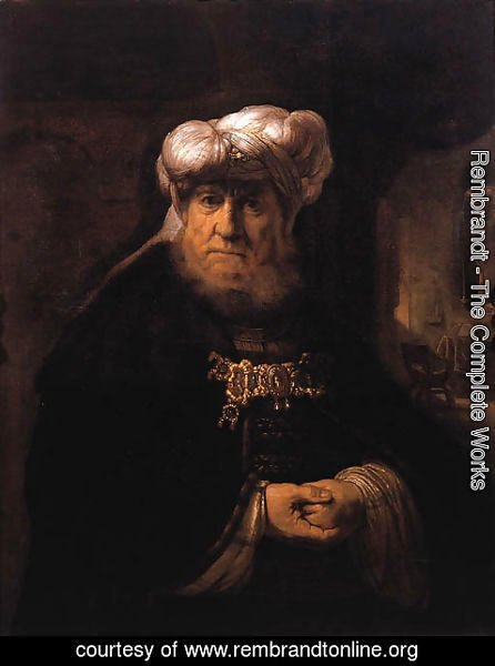 Rembrandt - A man in oriental dress