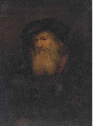 Rembrandt - A man, bust-length, with a beard