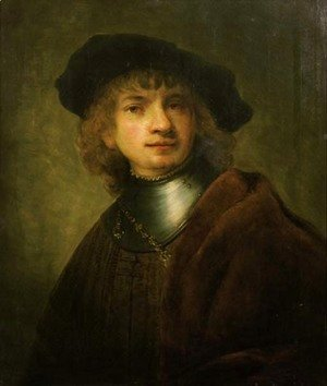 Rembrandt - A youth in a cap and gorget