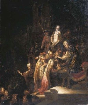 Rembrandt - Christ before Pontius Pilate