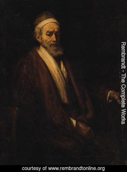 Portrait of Jacob Trip, seated half-length, holding a staff