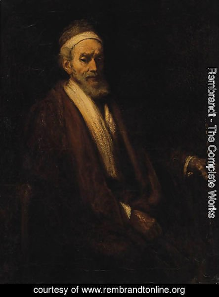 Rembrandt - Portrait of Jacob Trip, seated half-length, holding a staff