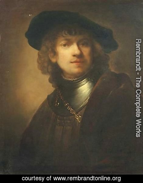Rembrandt - Self-portrait as a young man with a black beret
