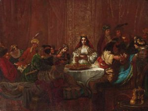 Rembrandt - The wedding feast of Samson