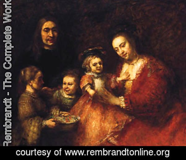 Rembrandt - Group Portrait Of A Husband And Wife With Three Children