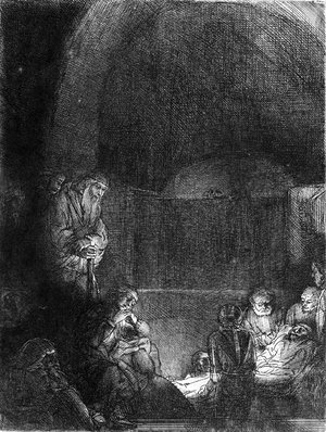 Rembrandt - The Entombment 2