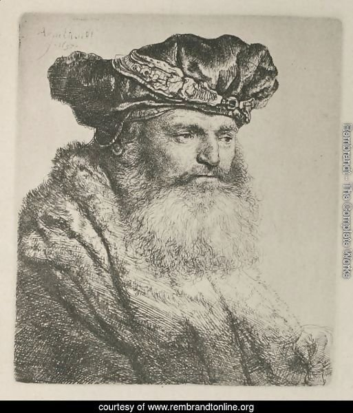 A bearded Man in a Velvet Cap with a Jewel Clasp