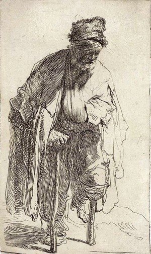 Rembrandt - A Beggar with a wooden Leg