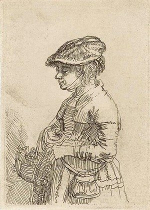 Rembrandt - A Girl with a Basket